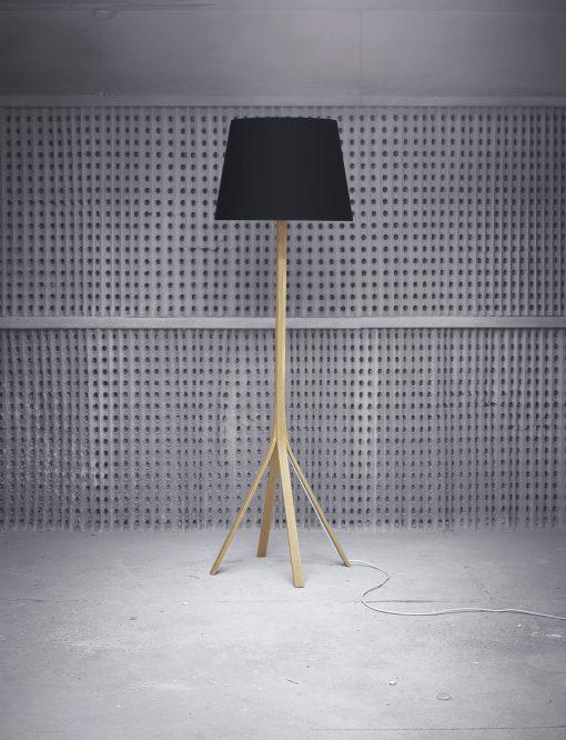 Stornish wooden floor standing lamp